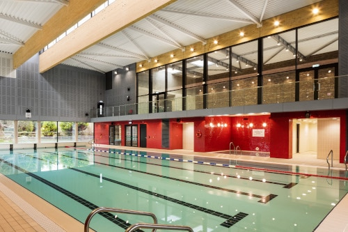 Clongowes Wood College Swimming Pool. Wejchert Architects.