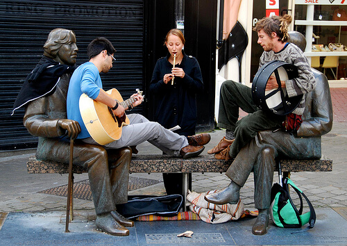 buskers galway
