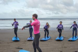 Séjour avec surf