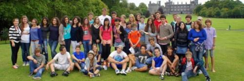 Kilkenny château et étudiants